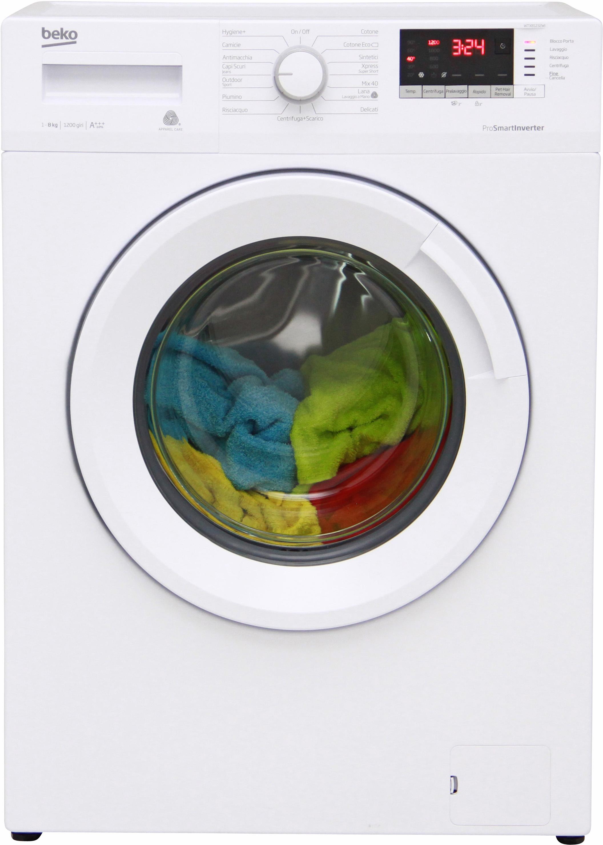 I dettagli del test sulla lavatrice BEKO WTX81232WI