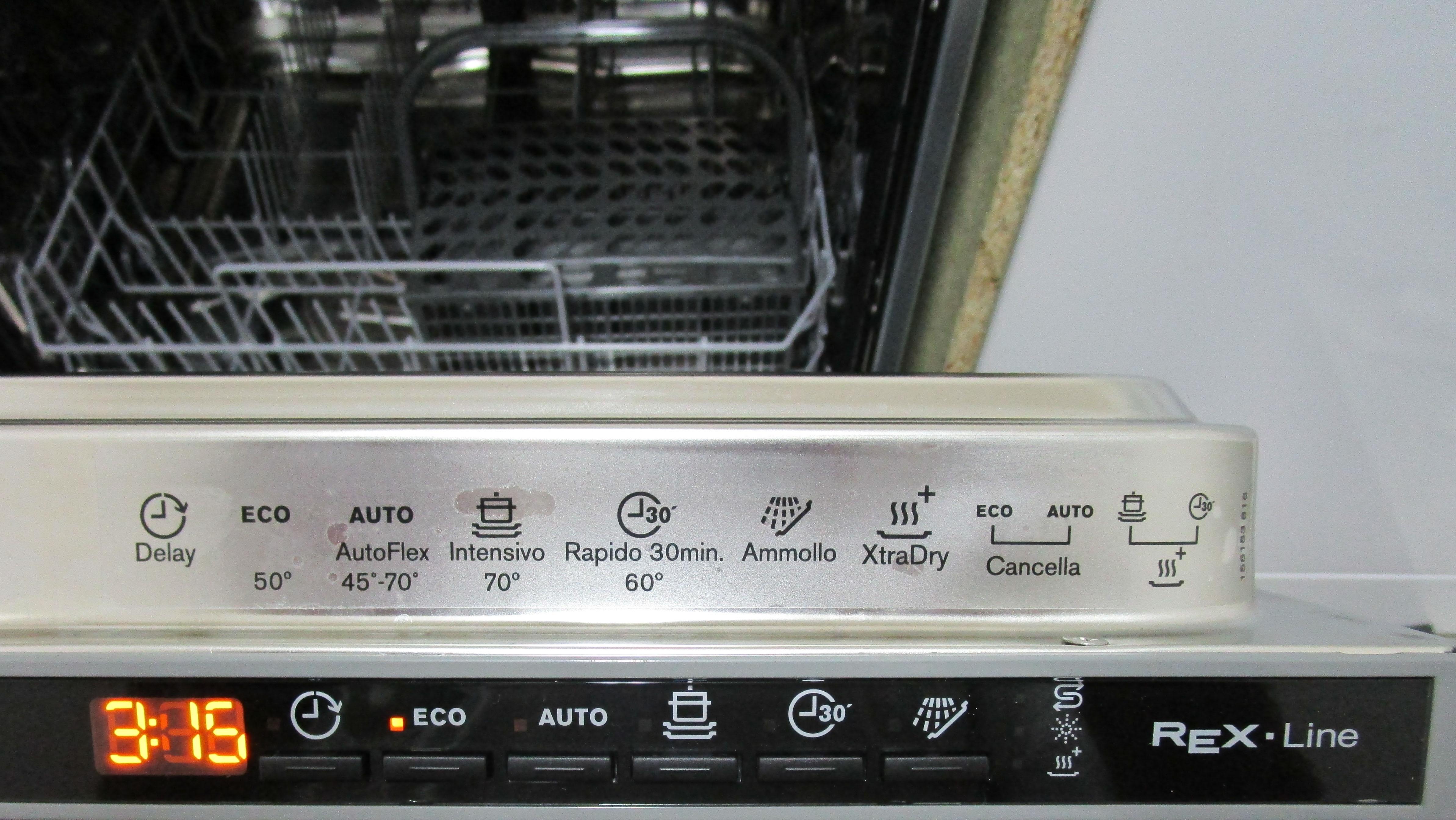 I dettagli del test sulla lavastoviglie ELECTROLUX TT703L3
