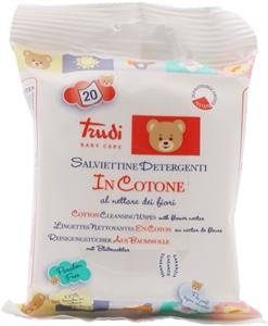 TRUDI Salviettine detergenti in cotone al nettare di fiori