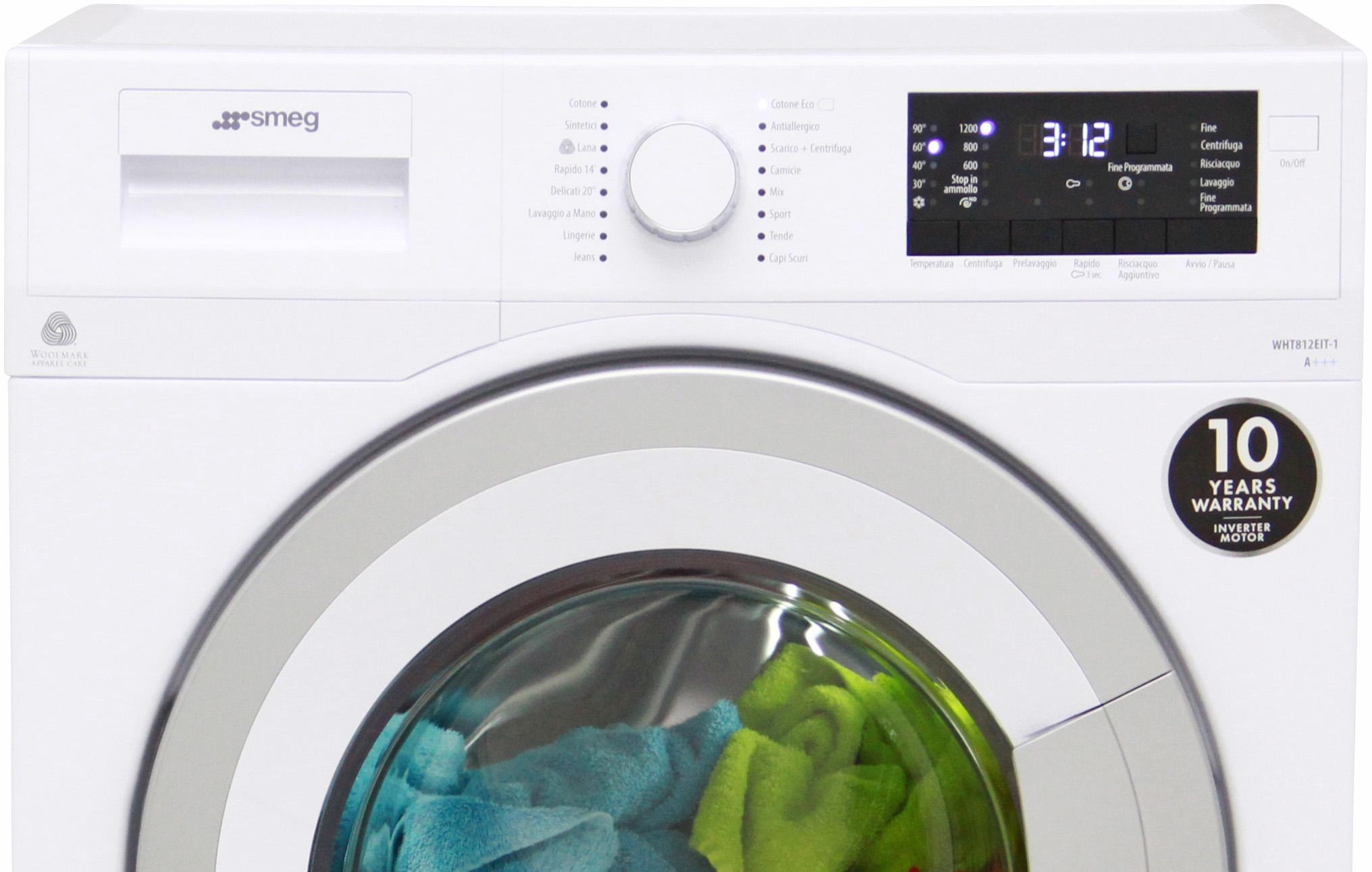 I dettagli del test sulla lavatrice SMEG WHT812EIT-1